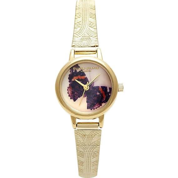 Olivia Burton Reloj - Woodland - Mesh Mariposa Oro