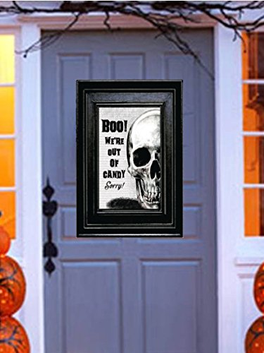 Boo! We're Out of Candy , Sorry! ~ Skeleton Poster Sign Halloween Door Decoration for $<!--$13.99-->