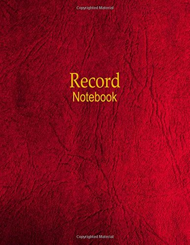 Record Notebook: 4 Column Ledger PDF