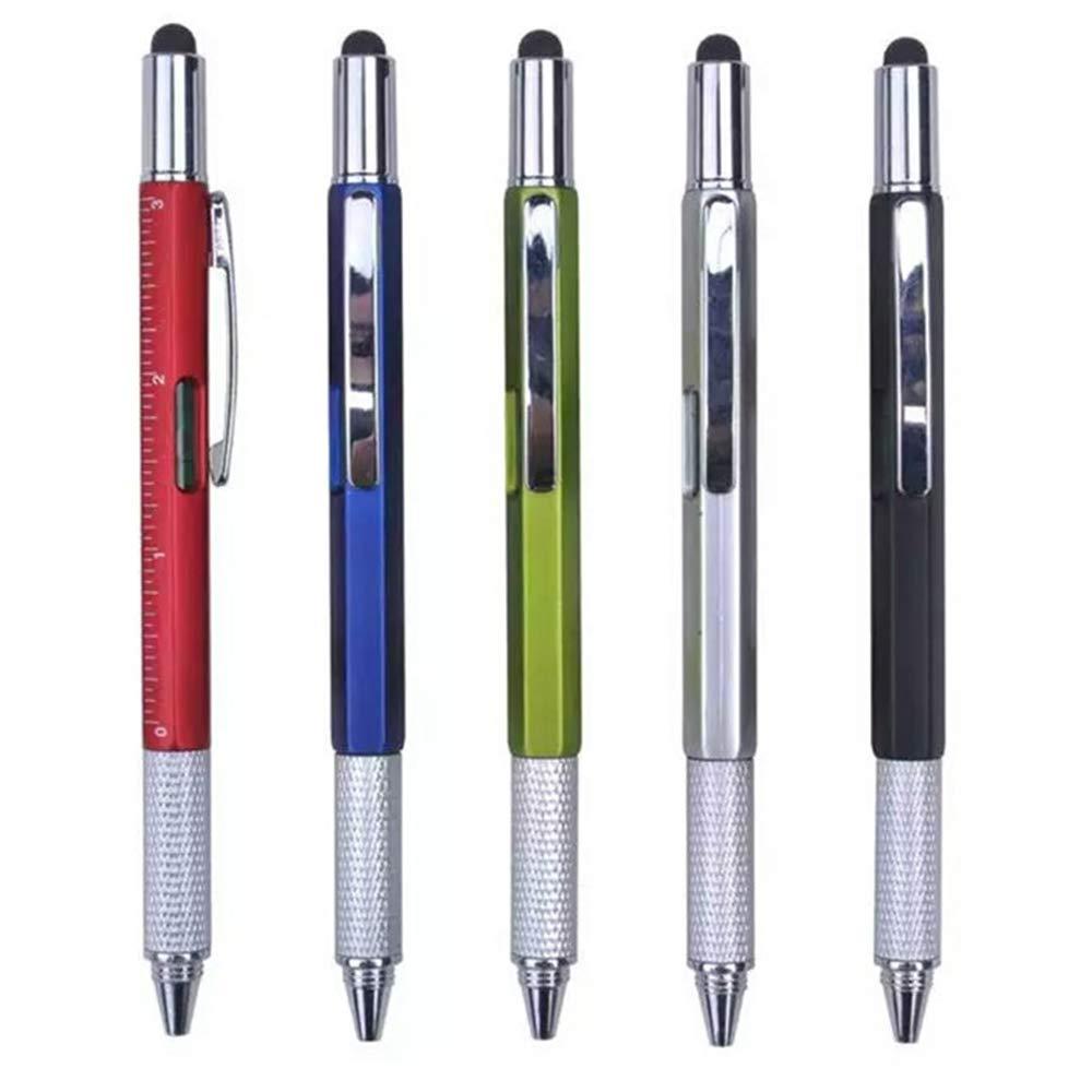 sliver 1 penna 6 in 1 penna per cacciavite Mini penna multifunzione con stilo Righello 1.0mm Penna a sfera Ricarica speciale