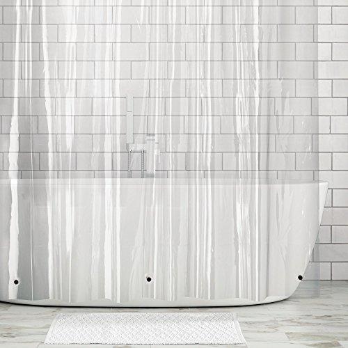 aterproof, Mold/Mildew Resistant, Heavy Duty Premium Quality EVA Shower Curtain Liner for Bathroom Shower Stall and Bathtub, No Odor, Chlorine Free � 108