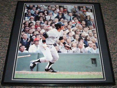 Bucky Dent Framed - Bucky Dent Yankees Home Run Framed 12x12 Poster Photo