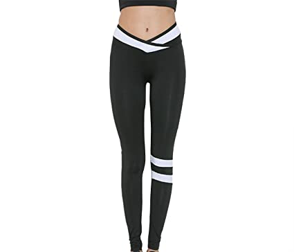 0e23ac5f29 Capri Leggings for Women Girls High Waist Trousers Slimming Running Yoga  Pants Gym Workout Tights (Black, L): Amazon.co.uk: Clothing