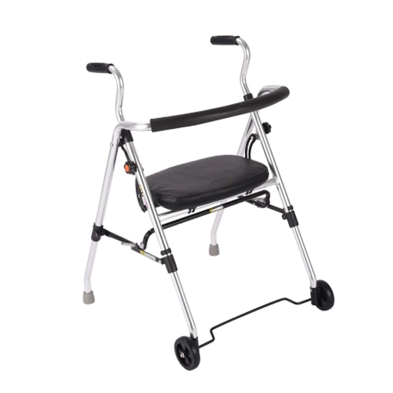 【超安い】 歩行者の歩行を助けるキャスターシート、歩行を助ける歩行器、手押し車が乗ることができ、老人の歩行器の松葉杖、銀を軽く折り畳むことができる B07L9545QP B07L9545QP, jevis:751af85a --- a0267596.xsph.ru