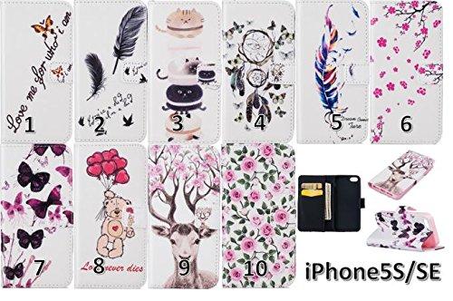 PU Carcasa de silicona teléfono móvil Painted PC Case Cover Carcasa Funda De Piel Caso de Shell cubierta para smartphone Apple iPhone 55S se + Polvo Conector marrón 2 9