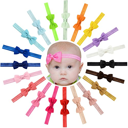 Baby Girls Headbands 20Pcs Elastic Headbands with 2.7