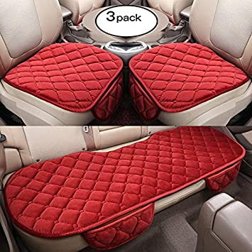 YOPRIA Soft Car seat Cover Cushion Pad Mat Protector for Auto Supplies for Sedan Hatchback SUV 2+1 Front Seat Covers /& Rear Seat Covers