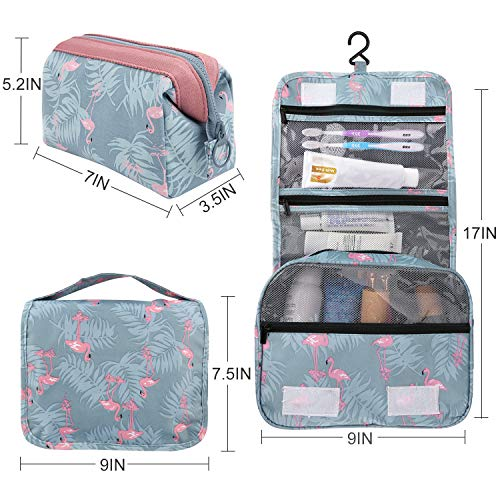 2 Pieces Toiletry Bag Multifunction Hanging Cosmetic Bag Portable Organizer Makeup Bags Pouch Large Capacity Waterproof Travel Bag for Women Girls Men by Fairyland (Image #3)