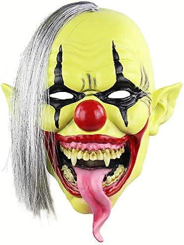 Máscara Amarilla de la Cara del Payaso/de Halloween Viste a la Navidad/Maquillaje Adulto Sombreros/Juego de Roles/Prom Látex Máscara/Horror Fantasma Celada ZHANGKANG