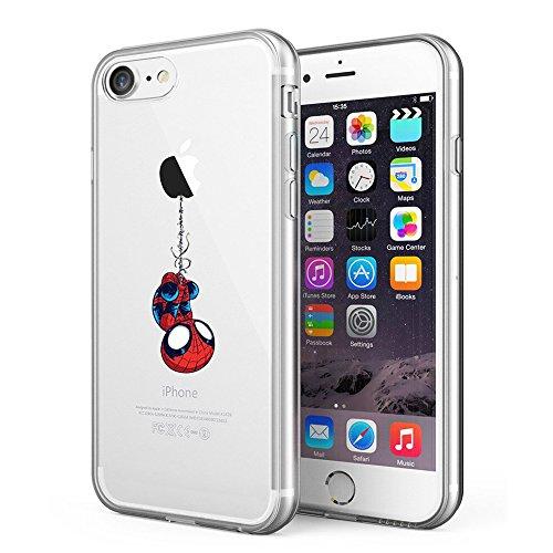 LitechTM Case for Apple iPhone 7 / iPhone 8 [Flexfit] Comic Super Hero Inspired Series [Premium Scratch-Resistant] (Spider Man) (Best Iphone Cases For Guys)