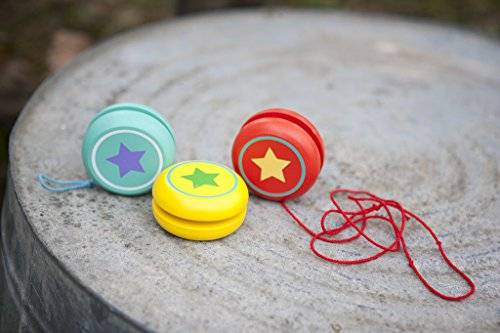 Jack Rabbit Creations Blue Wooden Star Yo-yo - Single Blue Yo-yo