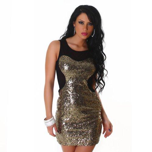 JELA London - Vestido - Sin mangas - para mujer dorado