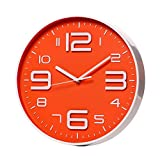 SonYo Indoor/Outdoor Big 3D Number Quartz Wall Clock Quiet Sweep Movement Decorative Living Room 10""