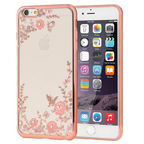 Phone Taschen & Schalen Für iPhone 6 Plus & 6s Plus Blumen Muster Galvanisieren Soft TPU Schutzhülle Fall ( SKU : IP6P0010D )