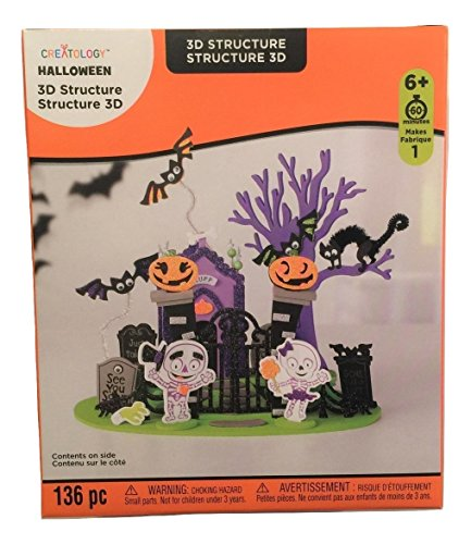Creatology Halloween 3D Activity Kit ~ Cemetery Scene (136 Pieces) -