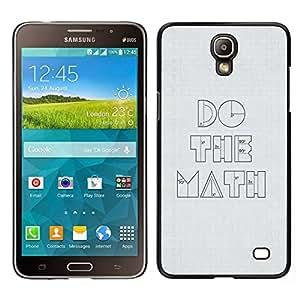 EJOY---Cubierta de la caja de protección para la piel dura ** Samsung Galaxy Mega 2 ** --Divertido Do The Math minimalista