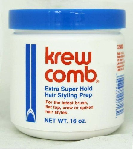 Krew Comb Extra Super Hold Hair Styling Prep 16 oz -3 pie...