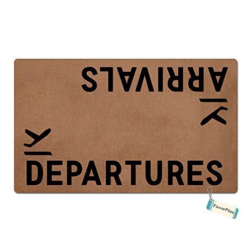 (FavorPlus Arrivals Departures Funny Entrance Custom Doormat Door Mat Machine Washable Rug Non Slip Mats Bathroom Kitchen Decor Area Rug 15.7X23.6)