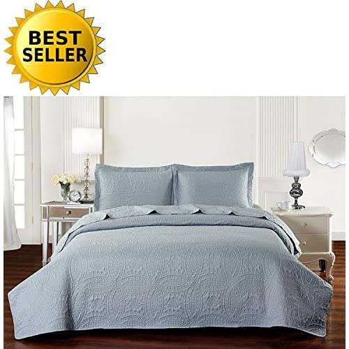 Elegant Comfort Luxury LightWeight 2-Piece Bedspread Coverlet Quilt Set with Shams -All Season- HypoAllergenic- Wrinkle &...