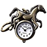 Youyoupifa Horse Design Bronze Alloy Keychain Quartz Watches (Unisex)