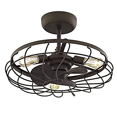Fifth and Main WL-2281 Santiago Ceiling Fan, Aged Bronze