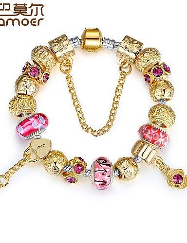 51ed4a6c58ee Venta caliente los Aliexpress UK 11 estilo 925 Plata encanto europeo  pulsera para las mujeres moda joyas con cuentas de bricolaje  Amazon.es   Joyería