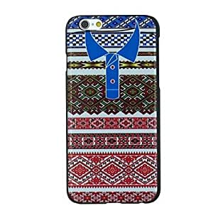 WQQ Folk Style T-shirt with Blue Collar Pattern PC Hard Back Cover Case for iPhone 6