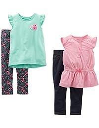 Toddler Girls' 4-Piece Tops and Pants Playwear Set