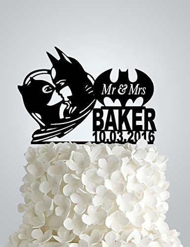 Acrylic Wedding cake Topper - Batman and Catwoman ()