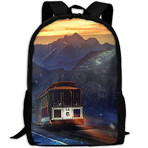 YIXKC Backpack for Adults Hiking Train Snow Mountian Durable ()