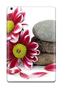 Hot IJo-5210wGEXHMay Case Cover Protector For Ipad Mini/mini 2- Flowers And Stones