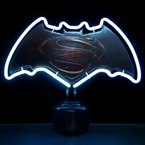 Official Batman V Superman Dawn of Justice Logo Small Neon Night Light Table at Gotham City Store