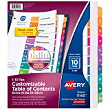 Avery 10-Tab Extra-Wide 3 Ring Binder