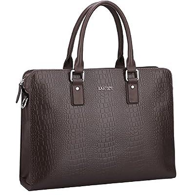 """Banuce Genuine Leather Briefcase for Men Attach Case Menssenger Bag Business 13"""" Laptop Tote Shoulder Bag high-quality"""