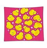 Beshowereb Fleece Throw Blanket Rubber Duck Set Fun - Best Reviews Guide