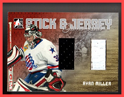 2006-07 ITG Heroes and Prospects Sticks and Jerseys #SJ09 Ryan Miller GAME USED STICK AND JERSEY AMERICANS (Ryan Miller Game)