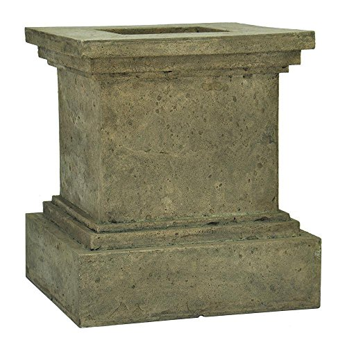 MPG 16-1/2 in. Square Aged Granite Cast Stone Pedestal (Square Pedestal Cast)