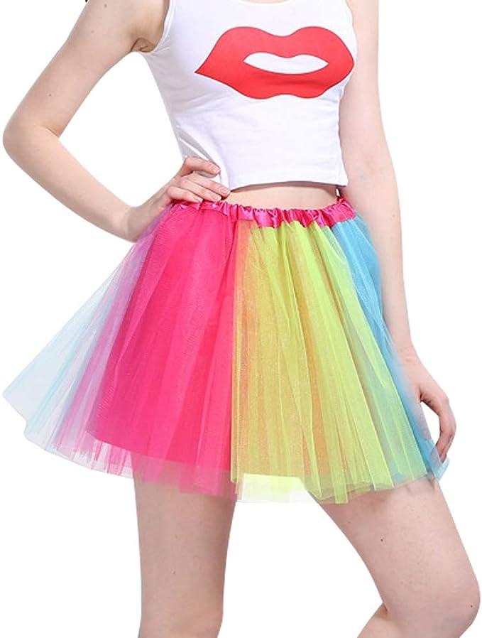 iMixCity Mujer Tutu Falda Tul Short Ballet 3 Capas Danza Ballet ...