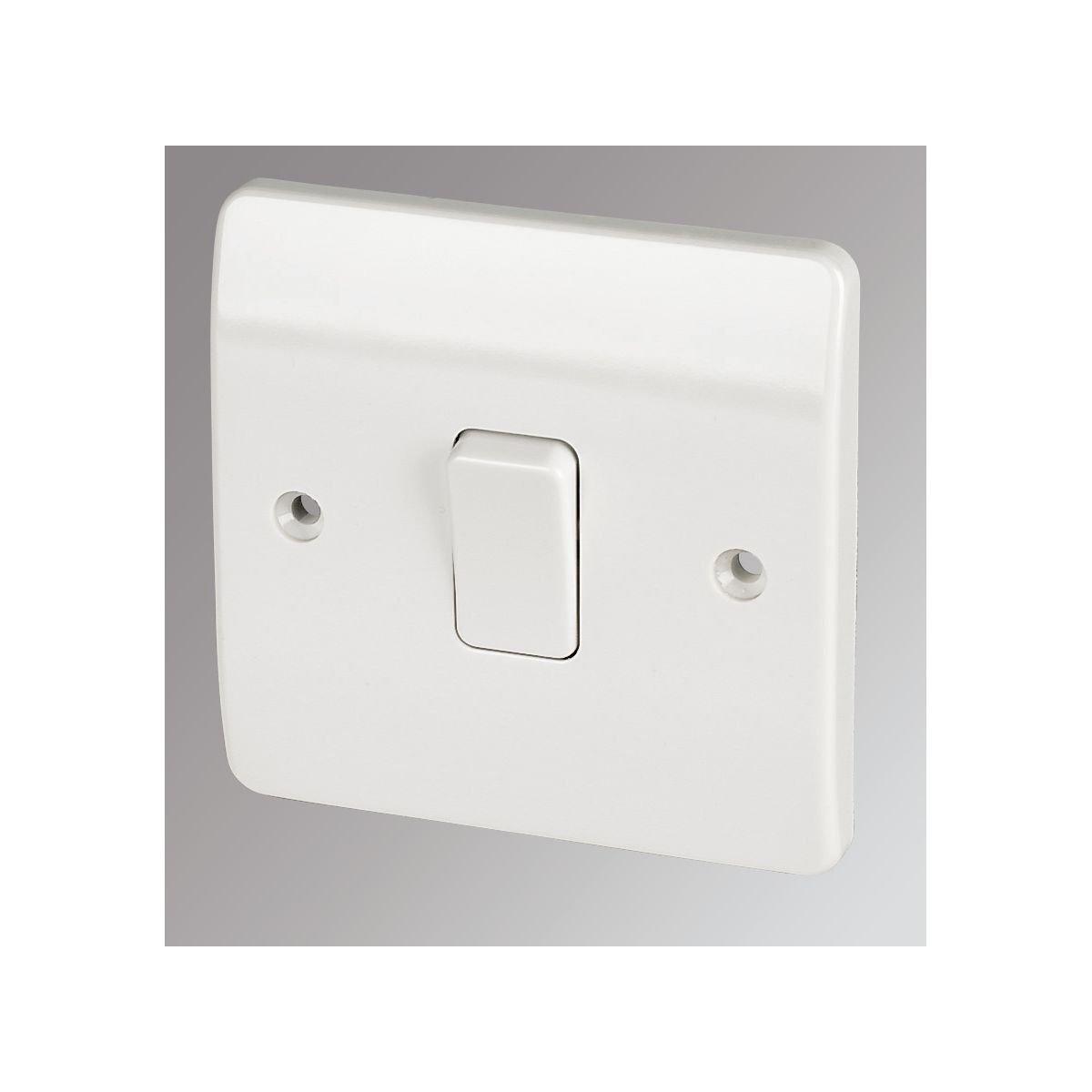 MK 1-Gang 2-Way 10AX Light Switch White: Amazon.co.uk: DIY & Tools