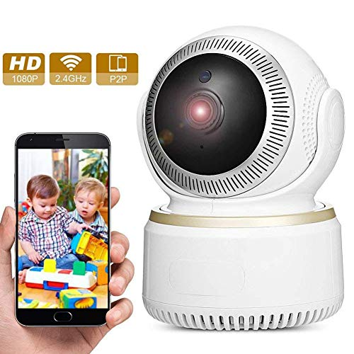 HUZHAO Wireless 1080P Camera,Smart Security Camera 2.0MP Indoor/Outdoor WiFi Home Security Surveillance Camera Pan/Tilt Monitor with Two-Way Audio & Night Vision for Baby/Elder/ Pet/Nanny by HUZHAO
