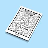 Mamma Mia Coloring Pages - Hand-drawn illustrations by Coloring Broadway. Printed on matte card