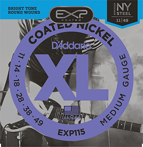 D'Addario EXP115 Coated Electric Guitar Strings, Medium/Blue