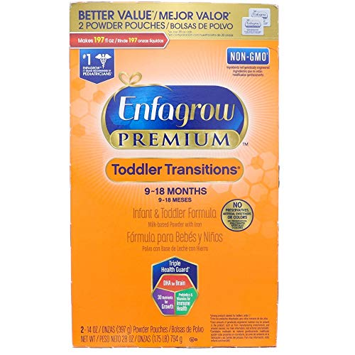 - Enfagrow PREMIUM Toddler Transitions Infant & Toddler Formula, Powder, 28 oz Box