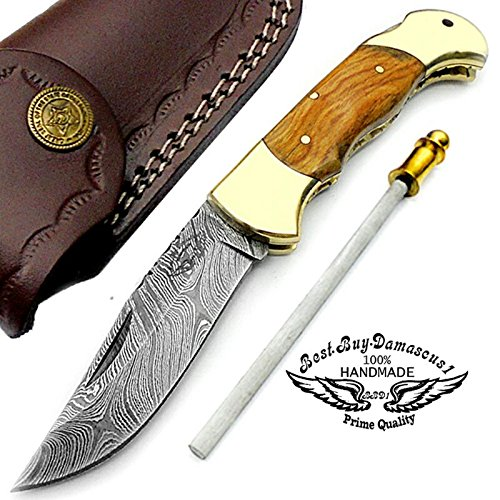 Brass Folder Knife (Olive Wood 7.5