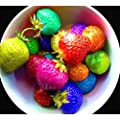 100seeds/bag color rain bow strawberry seeds fruit Multi-color strawberries seeds flower seed garden pots & planters