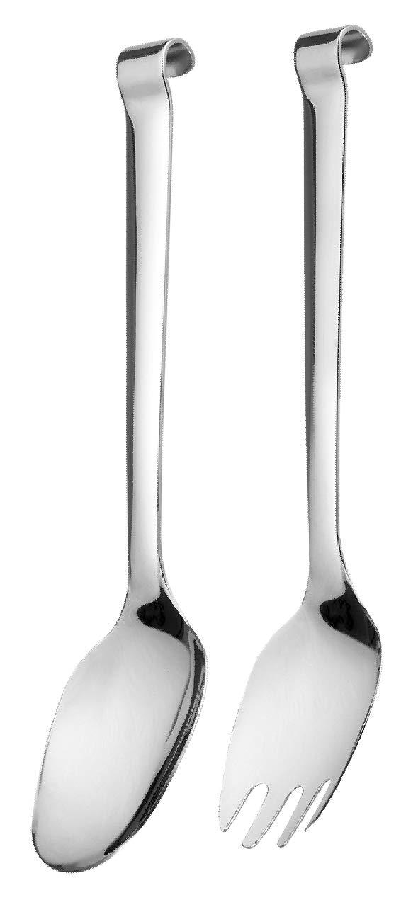 je 25cm Salatl/öffel und Salatgabel Edelstahl 18//10 Buffet Profi-Selection 4378PRO Comas Salatbesteck 2-teilig