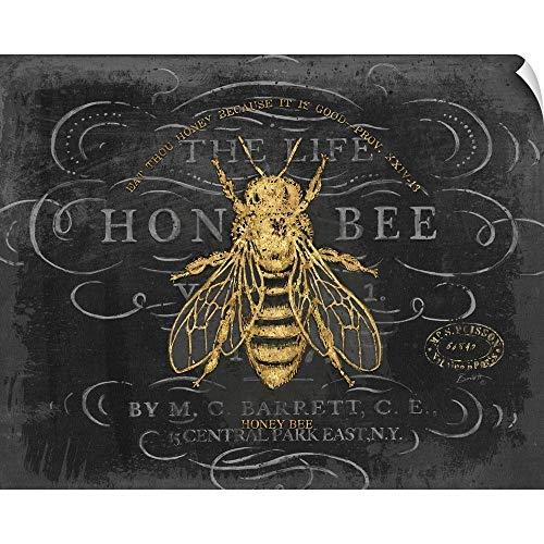 CANVAS ON DEMAND Honey Bee Wall Peel Art Print, 14
