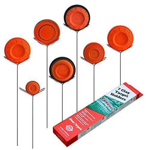 Clay Pigeon Target Holders Pack of 7 - Will Fit Any Clay Targets - Made in USA (Target Archery A Fit)