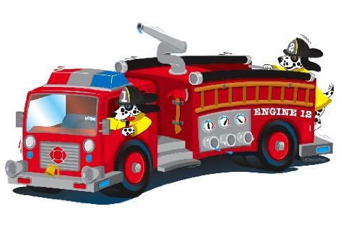 12-Firetruck-Edible-Image-Cupcake-Toppers