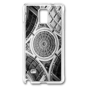 VUTTOO Rugged Samsung Galaxy Note 4 Case, Beautiful Ceiling Architecture Case for Samsung Galaxy Note 4 N9100 PC Transparent
